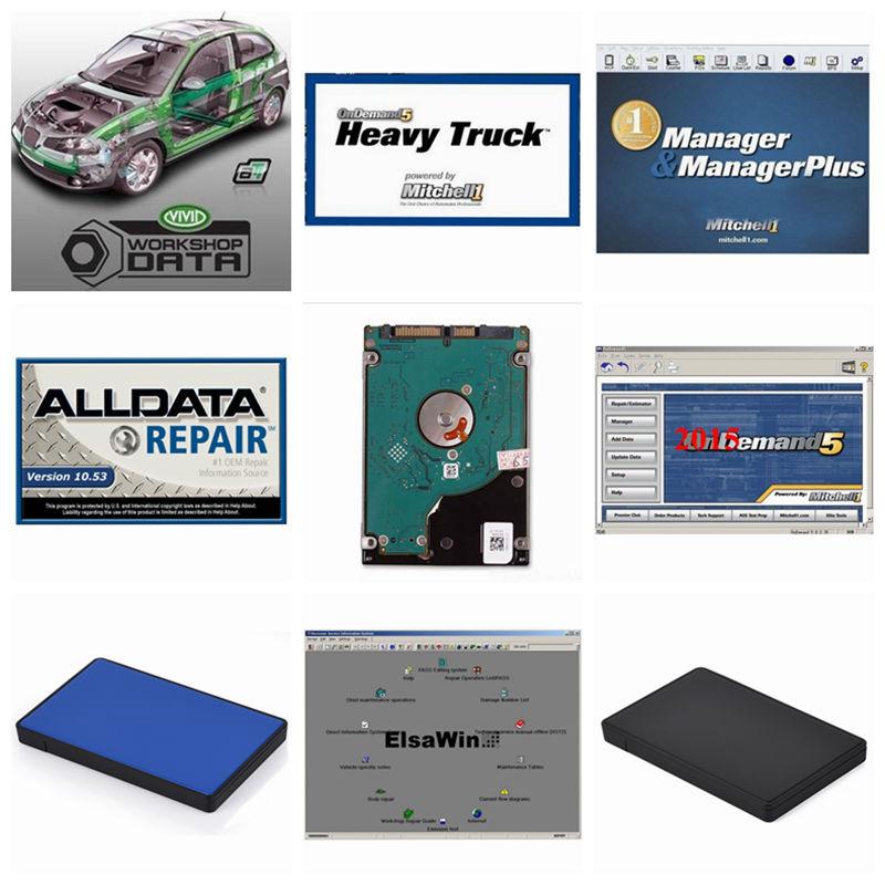 [해외]Alldata HDD 23in1 1TB 하드 디스크 Alldata 10.53 자동차 수리 소프트웨어 미첼 on demand5 2015V 자동차 수리 데이터 생생한 작업장 Elsa/Alldata HDD 23in1 1TB Harddisk  Alldata 10.53