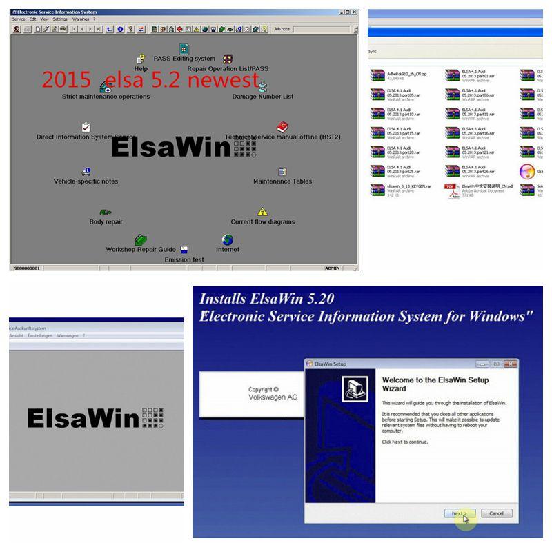 [해외]2018 ElsaWin 6.0 폭스 바겐 5.3 작동 아우디 자동 복구 소프트웨어 Elsa Win 6.0 핫 세일 소프트웨어/2018 New Arrival ElsaWin 6.0 work for VW 5.3 For Audi Auto Repair Software E