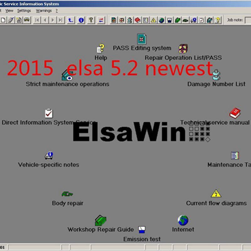 [해외]Software Elsa Win 5.2 2018 년 ElsaWin 폭스 바겐 5.3 작업 Audi Auto Repair를 위해 Hot selling software/Software Elsa Win 5.2 2018 New Arrival ElsaWin 5.2 wor