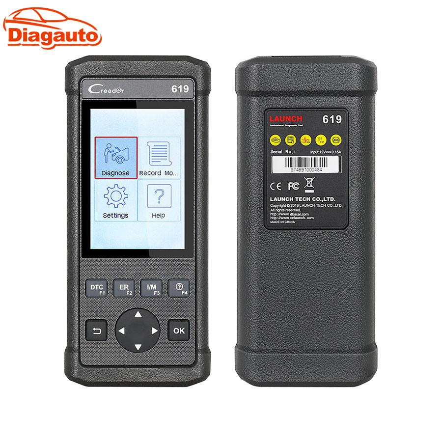 [해외]Diagauto 지원 데이터 레코드 및  진단 스캐너 원본 실행 DIY 스캐너 CReader 619/Diagauto Support Data Record and Replay Diagnostic Scanner Original Launch DIY Scanner CRe