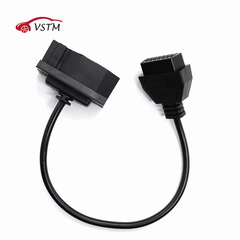 [해외]포드 들어 7Pin OBD2에 16Pin 케이블 변환기 포드 7 핀 DLC 리드 OBDII 16 핀 여성 커넥터 전송/For Ford 7Pin to OBD2 16Pin Cable Converter For Ford 7 Pin to DLC Lead OBDII 16