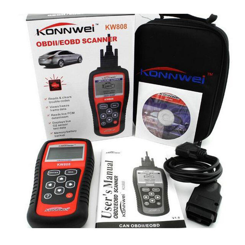 [해외]?OBD2 스캐너 KW808 자동차 진단 코드 리더 CAN 엔진 재설정 도구 KONNWEI 자동 스캐너 범위 (우리는 아시아 및 유럽)/ OBD2 Scanner KW808 Car Diagnostic Code Reader CAN Engine Reset Tool K