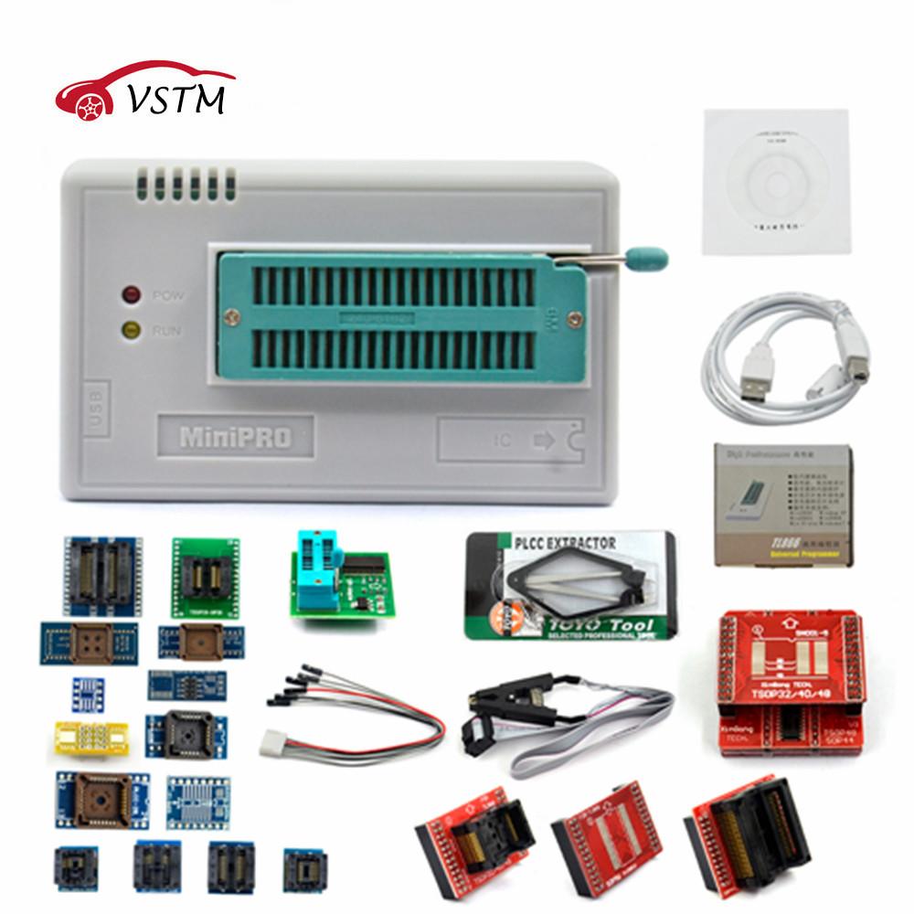 [해외]V7.21 TL866II 플러스 TL866A 21 어댑터 USB 범용 프로그래머 바이오스 / ECU 프로그래머 + 24 어댑터 1.8V 낸드 플래시 24 93 25 mcu/V7.21 TL866II Plus TL866A WITH 21 ADAPTER USB Univ