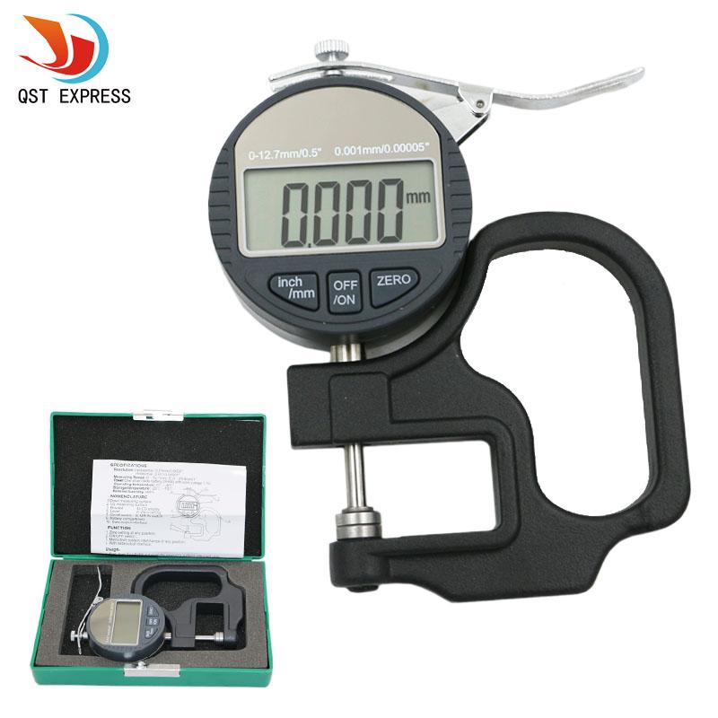 0.001mm 전자 두께 게이지 10mm 디지털 마이크로 미터 두께 측정기 RS232 데이터 출력이있는 마이크로 미터 두께 측정기