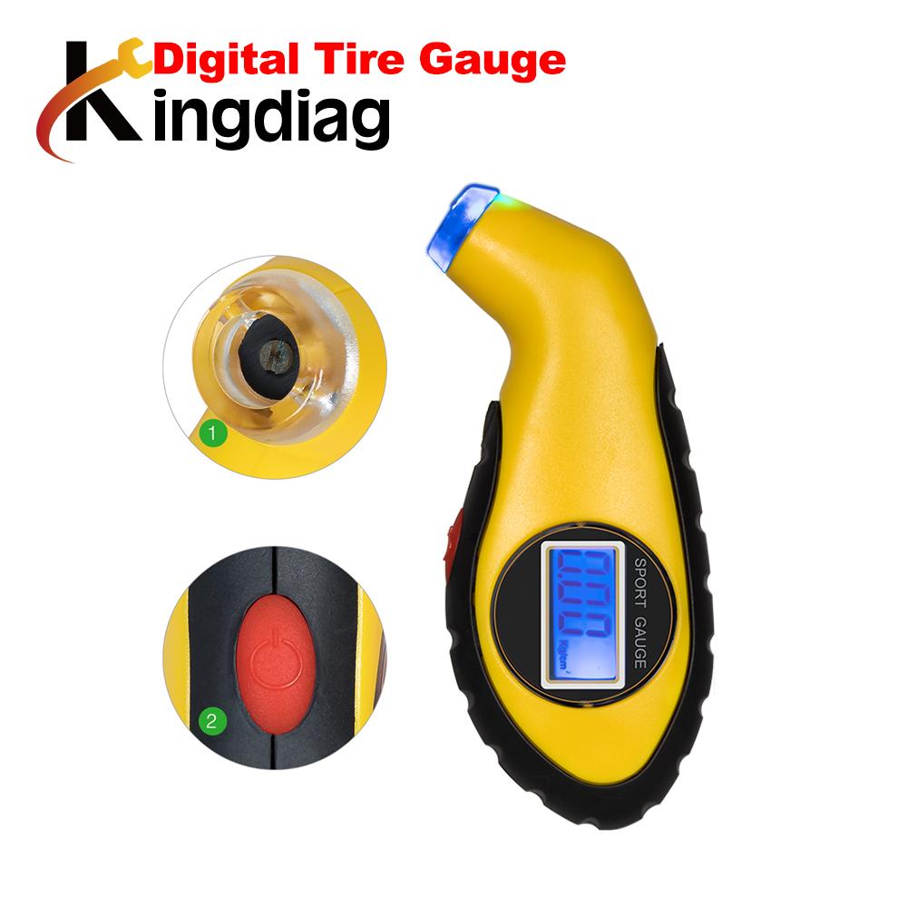 [해외]2018 디지털 타이어 압력 게이지 미터 압력계 기압계 테스터 디지털 LCD 공기 타이어 테스트를자동 자동차 오토바이 휠/2018 Digital Tire Pressure Gauge Meter Manometer Barometers Tester Digital LCD