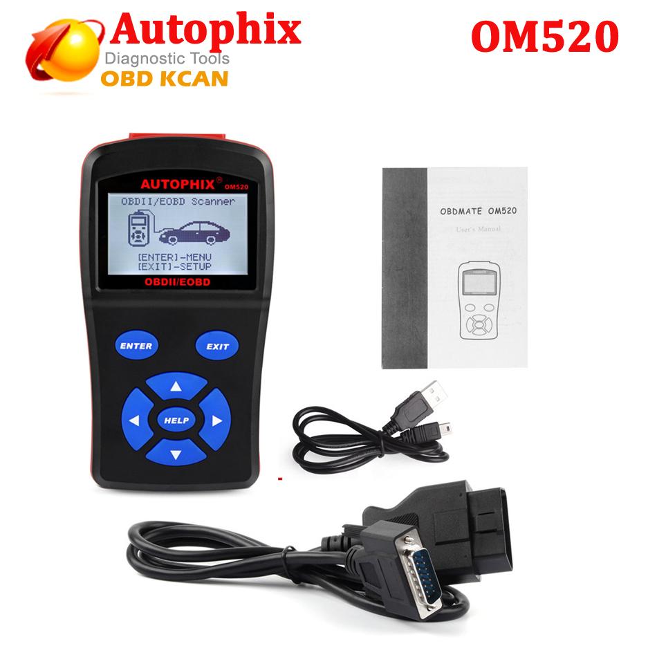 [해외]OBDMATE OM520 OBDII / EOBD Autophix 스캐너 도구 자동차 감지기 코드 리더 LCD 디스플레이 진단 도구를 업데이트 할 수 /OBDMATE OM520 OBDII/EOBD Autophix Scanner Tools Car Detector C