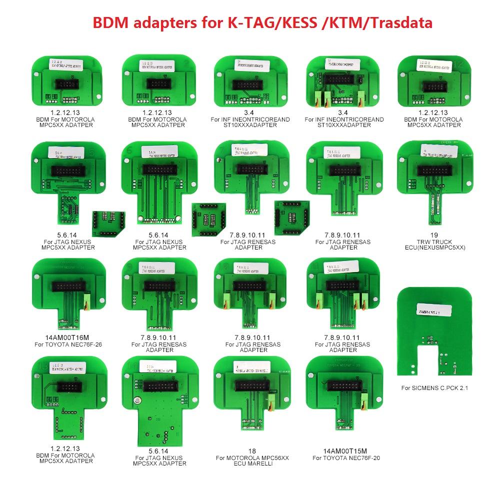 [해외]K-TAG / KESS / KTM / Trasdata 용 BDM ECU BDM 어댑터 진단 칩 튜닝 툴 22 BDM 어댑터/BDM ECU BDM adapters for K-TAG/KESS /KTM/Trasdata Diagnostic chip tuning tool