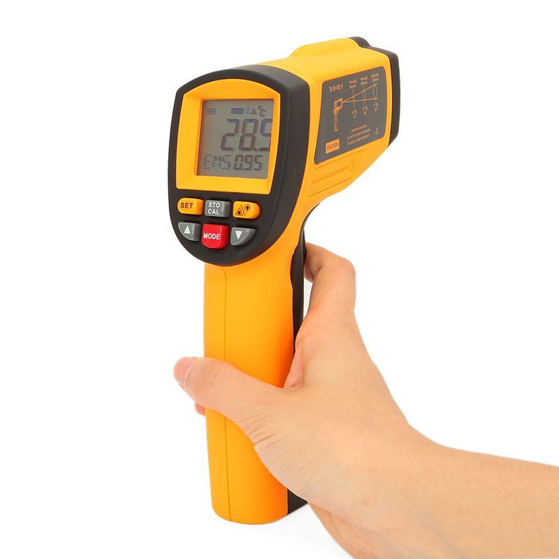 [해외]Gm1150a 50: 1 적외선 온도계-18 ~ 1150 섭씨 lcd 디지털 온도계 산업용 고온계 0.1 ~ 1em 조정 가능