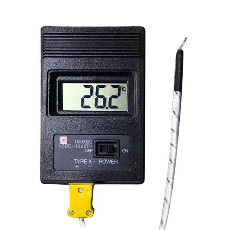 [해외]고정밀 디지털 온도계 열전쌍 프로브-50-1300 온도 측정기 K 유형 온도계