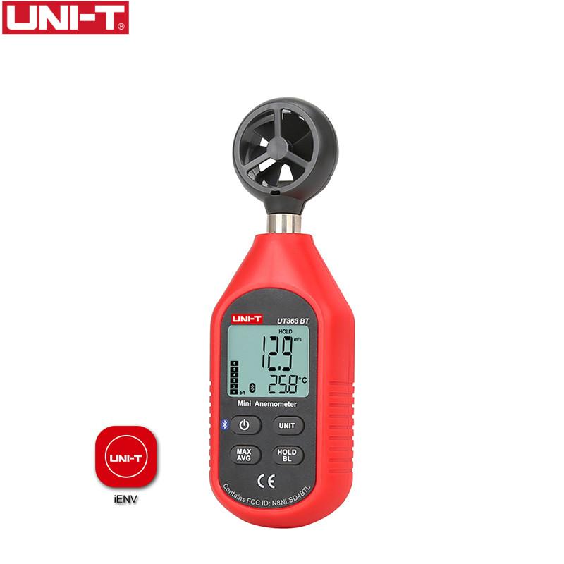 [해외]UNI-T ut363bt 미니 디지털 블루투스 풍속계 핸드 헬드 디지털 풍속 테스터 온도계 ut363에서 업그레이드 된 풍력 측정기