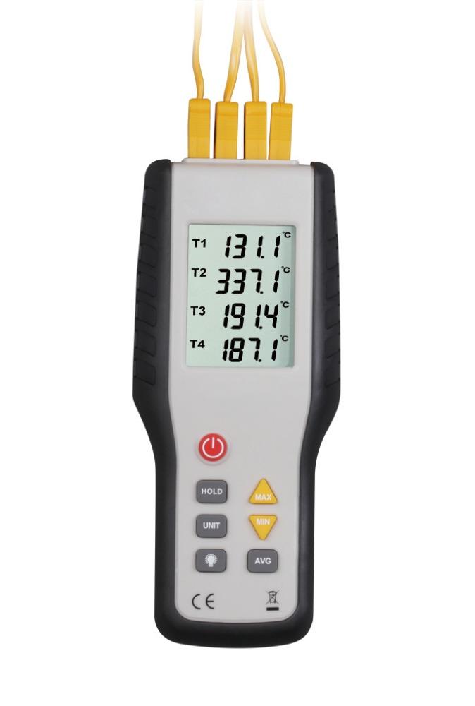 [해외]HT-9815 디지털 K 유형 열전쌍 온도계 4 채널 열전쌍 프로브 센서 산업용 온도 테스트-200C--1372C