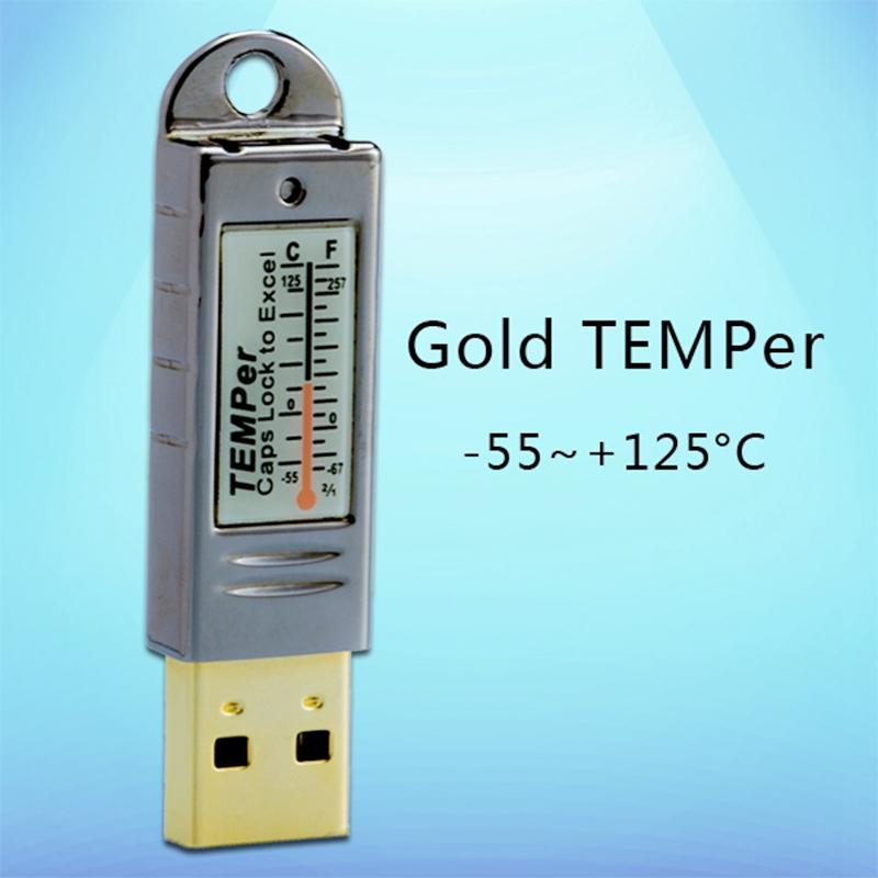 [해외]PC USB 온도계 -55125C 방수 농장 온실 시장 실내 환경 온도 센서 데이터 레코더 노트북 모니터/PC USB Thermometer -55125C Waterproof Farm Greenhouse Market Indoor Environment Tempera