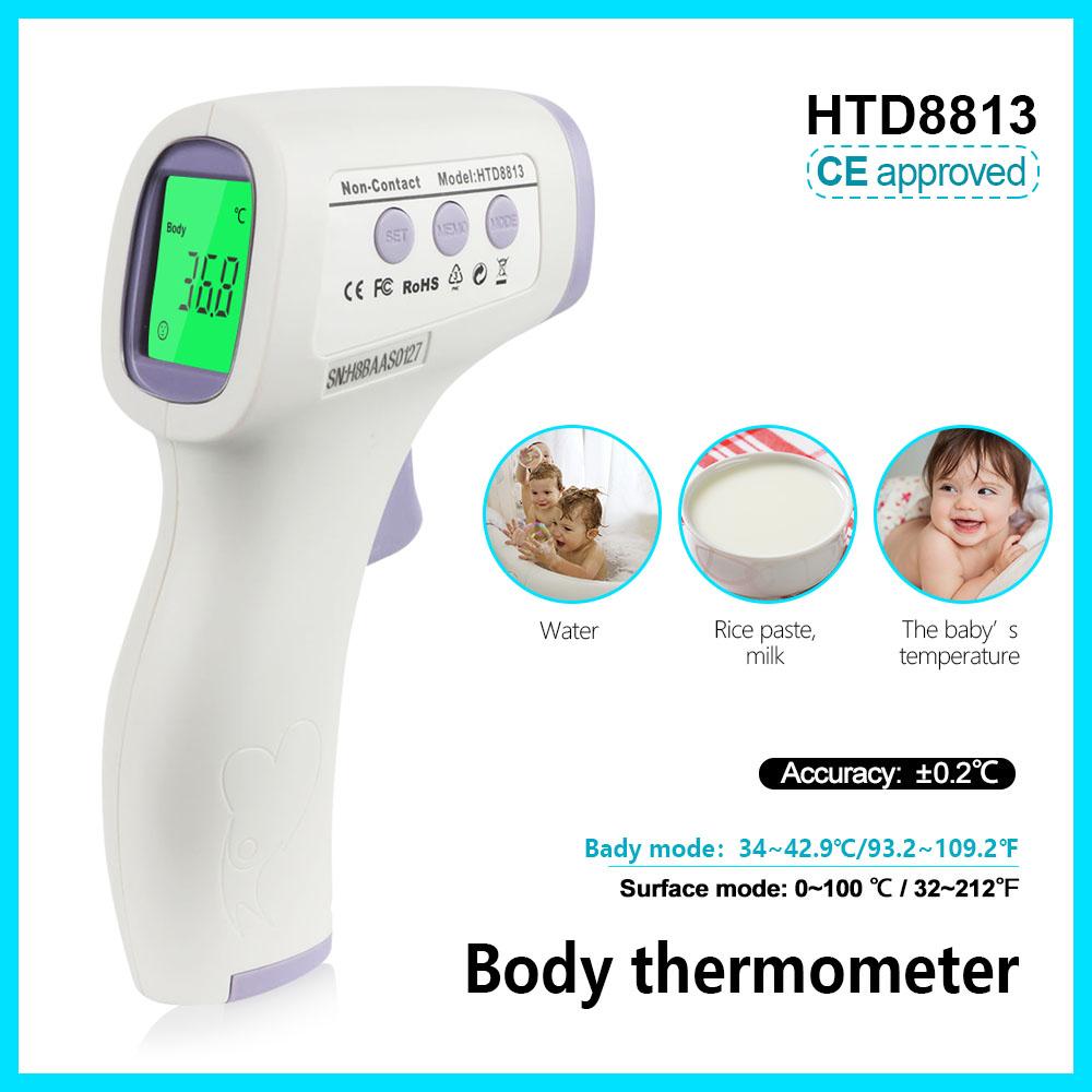 [해외]점퍼 체온계 디지털 전자 온도계 termometro forhead 원래 HTD8813 비 접촉/Jumper body thermometer digital electronic temperature meter termometro forhead original HTD8