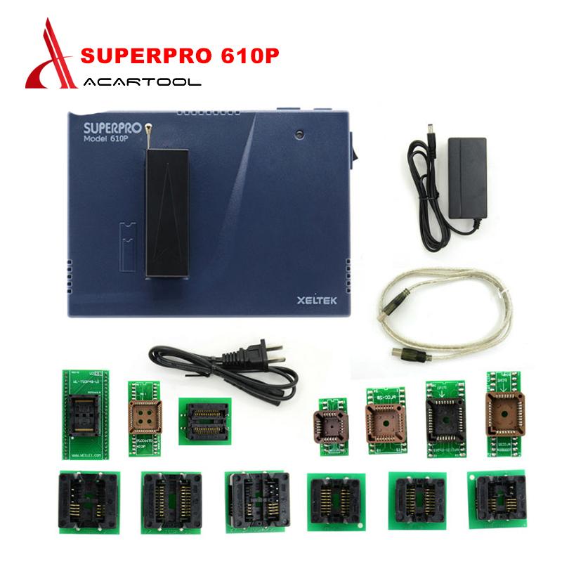 [해외]고품질 Xeltek Original Superpro 610P 고속 장치 USB 범용 IC 칩 프로그래머 + 13pcs Burn Block/High quality Xeltek Original Superpro 610P High speed Device USB Univ
