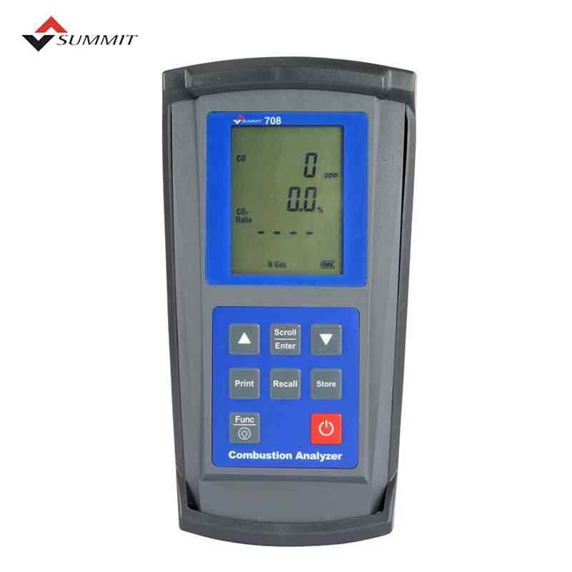 [해외]SUMMIT-708 O2 CO CO2 자동차 배기 가스 분석기/SUMMIT-708 O2 CO CO2 automotive exhaust gas analyzer