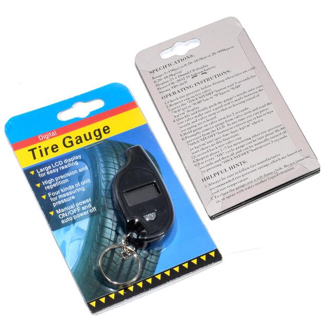 [해외]새로운 미니 키 체인 휴대용 디지털 LCD 2-150 PSI 타이어 타이어 바퀴 공기 압력 게이지 테스터 행렬 도구 타이어 압력 모니터/New Mini Keychain Portable Digital LCD 2-150 PSI Tire Tyre Wheel Air P