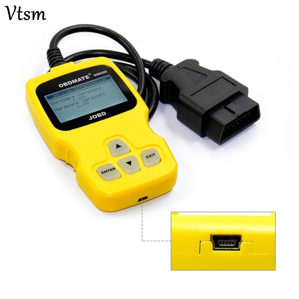 [해외]대부분의 자동차 OBDMATE OM500 JOBD / OBDII / EOBD 코드 리더 자동 스캐너 OM500 코드 스캐너/OBDMATE OM500 JOBD/OBDII/EOBD Code Reader Auto Scanner OM500 Code Scanner For