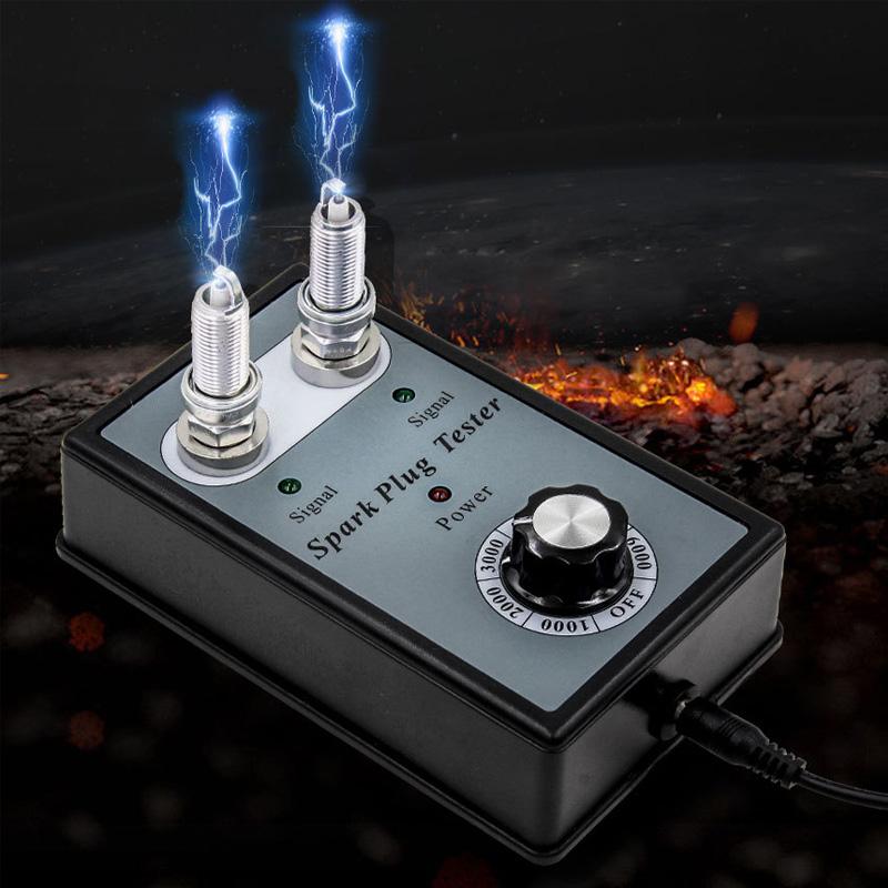 [해외]자동차 점화 시험기 1000-6000 Rpm / Min 2 구멍 점화 플러그 테스터 점화 코일 테스터 진단 도구 전원 공급 장치 선물로/Car Spark Plugs Tester 1000-6000 Rpm/Min 2 Hole Spark Plug Tester Igni