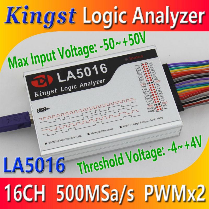 [해외]Kingst LA5016 USB 논리 분석기 500M 최대 샘플 속도, 16Channels, 10B 샘플, MCU, ARM, FPGA 디버그 툴, 영어 소프트웨어/Kingst LA5016 USB Logic Analyzer 500M max sample rate,1