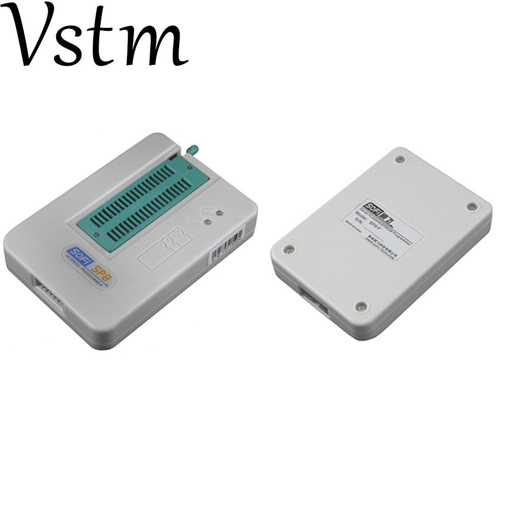 [해외]고속 SOFI SP8-B usb 프로그래머 + 4cs 어댑터 (93 / 24 / 25 / BR90 / 플래시 eeprom), 5000 칩 이상 SP8-A SP8-F SP16-B/high speed SOFI SP8-B usb programmer+4cs adapte