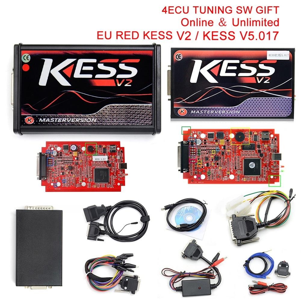 [해외]?ECU Kess V5.017 온라인 버전 KESS 5.017 No Token Limit V2.23 Kess V2 OBD2 관리자 튜닝 키트 자동차 트럭 ECU 프로그래머/ ECU Kess V5.017 Online Version KESS 5.017 No Toke