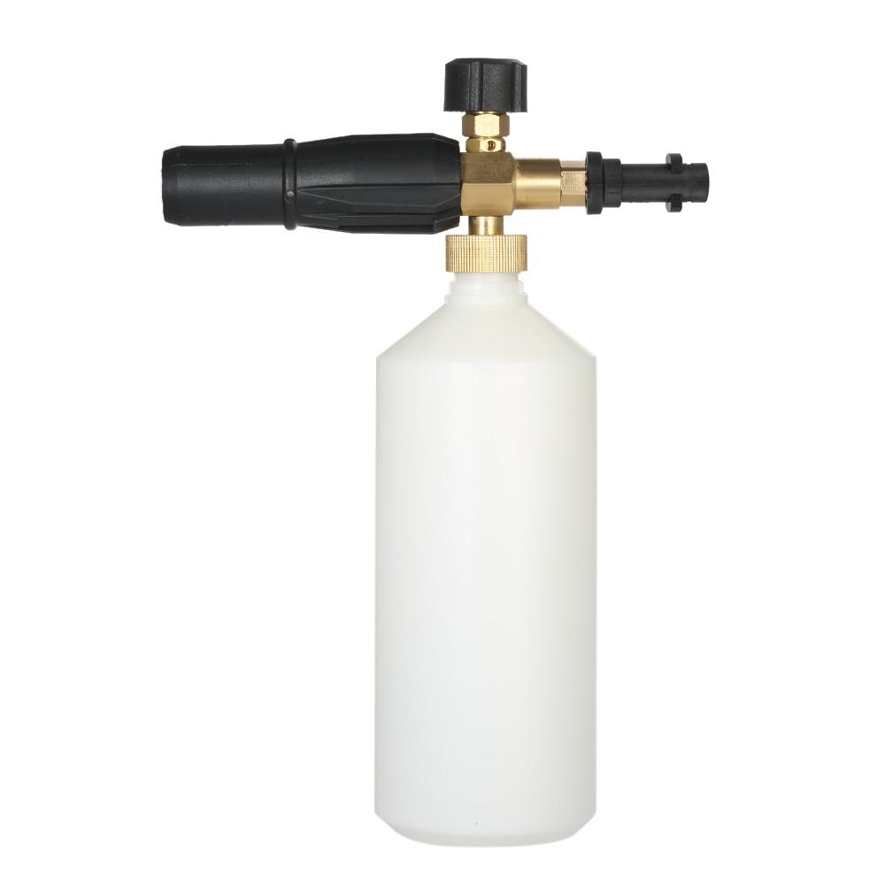 [해외]조정 가능한 세차장 물을 줄 수있는 1LHDPE 및 황동 비누 거품 압력 와셔 스프레이 도구없이 스프레이 콘 병 입/Adjustable Car Wash Watering Can 1LHDPE and Brass Soap Foam Pressure Washer Spray