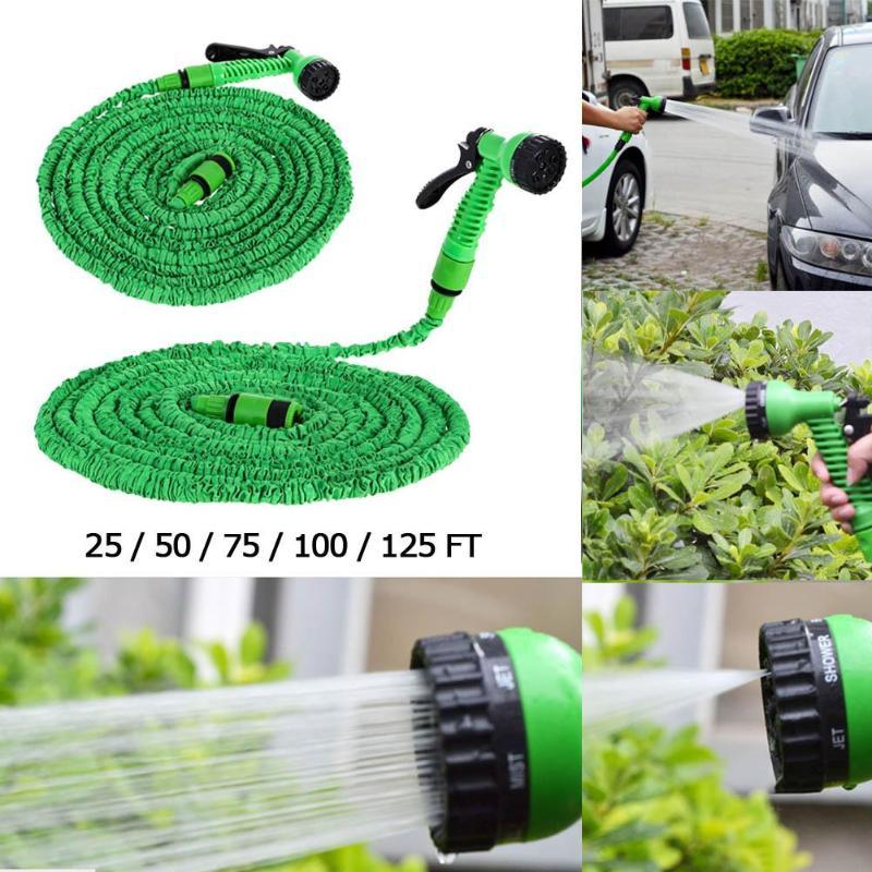[해외]25FT - 150FT 가든 호스 확장 가능한 매직 플렉시블 워터 호스 EU 호스 플라스틱 호스 파이프 스프레이 건 급수 용 자동차 세탁기 핫/25FT-150FT Garden Hose Expandable Magic Flexible Water Hose EU Hos