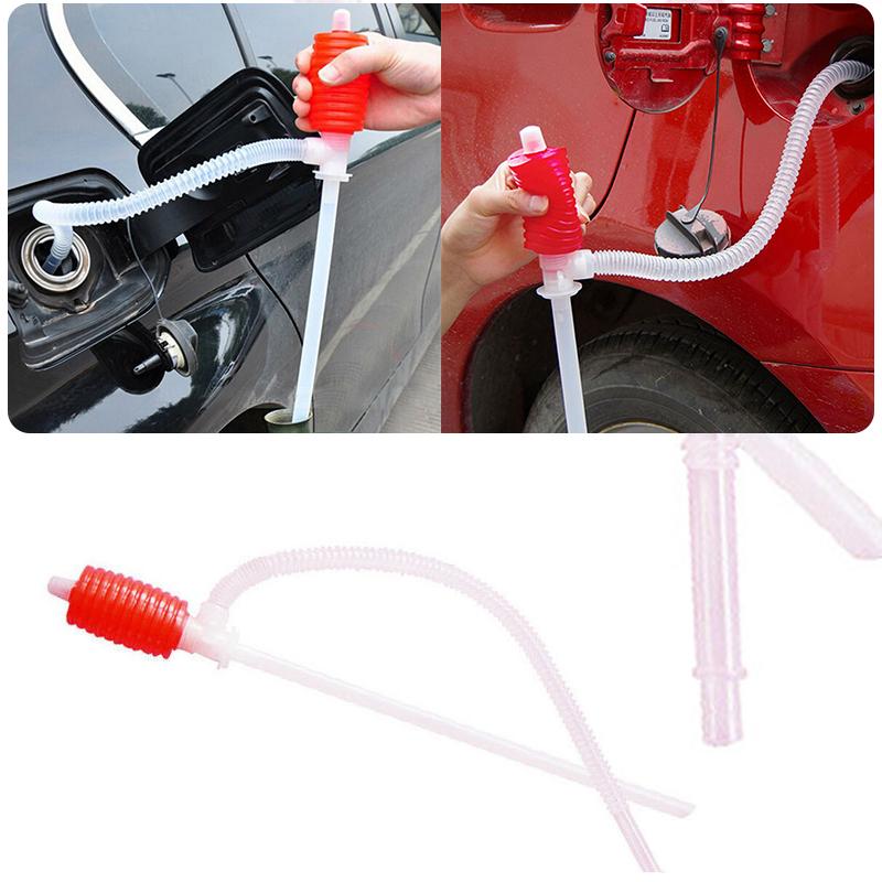 [해외]Mayitr 내구성 휴대용 자동차 수동 손 사이펀 펌프 플라스틱 호스 가스 물 오일 액체 사이펀 전송 펌프 레드/Mayitr Durable Portable Car Manual Hand Siphon Pump Plastic Hose Gas Water Oil Liqu