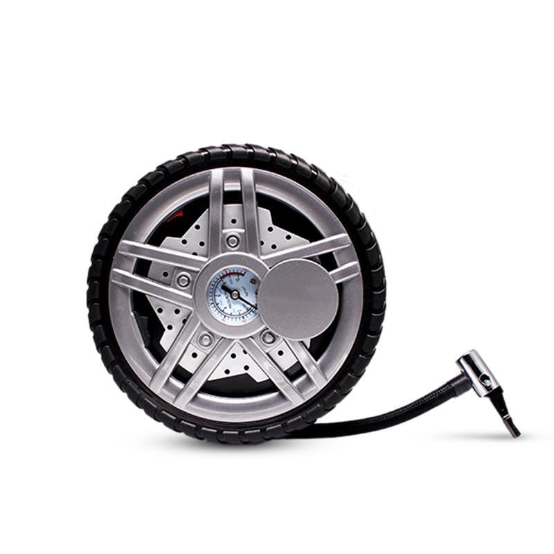 [해외]POWERTIGER 휴대용 미니 자동차 차량 LED 공기 압축기 전기 타이어 타이어 공기 팽창기 풍선 펌프 게이지 12V/POWERTIGER Portable Mini Auto Car Vehicle LED Air Compressor Electric Tire Tyr
