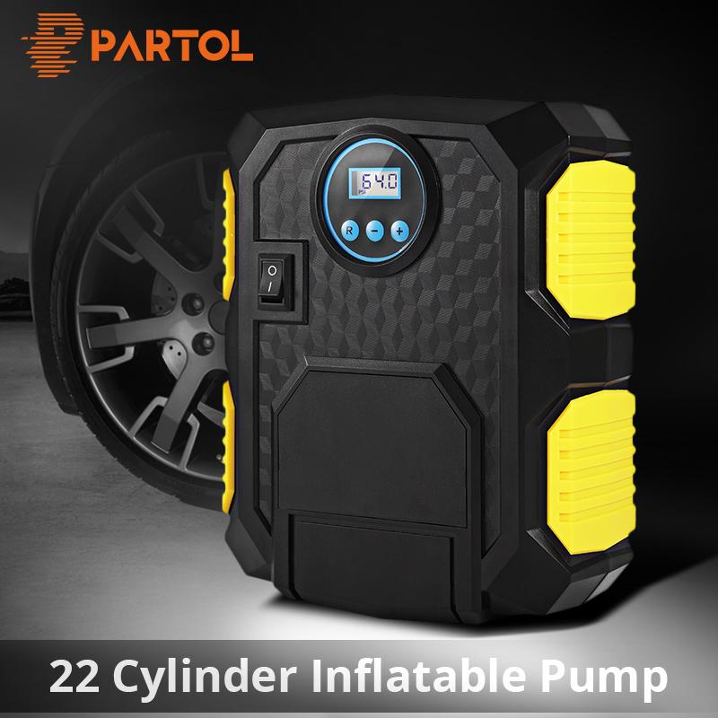 [해외]Partol 22 실린더 120W 전기 휴대용 자동차 타이어 팽창기 펌프 12V 자동 공기 압축기 LED 가벼운 자동차 디지털 공기 팽창 식 펌프/Partol 22 Cylinder 120W Electric Portable Car Tire Inflator Pump