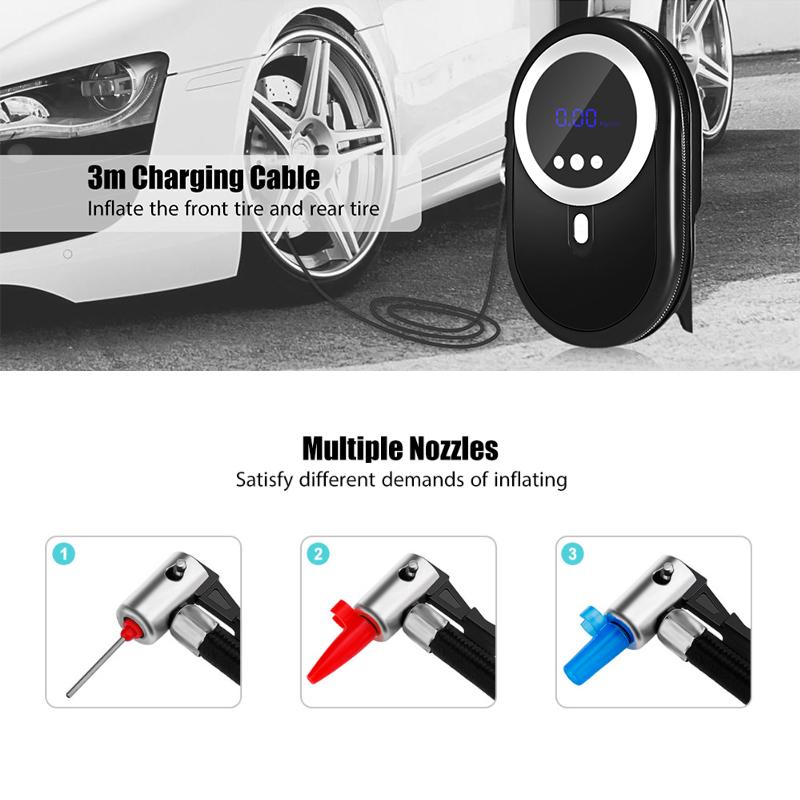 [해외]12V 자동차 공기 압축기 150PSI 팽창기 펌프 타이어 공기 팽창 식 펌프 디지털 디스플레이 휴대용 자동차 자전거 자동차 도구 담배 라이터/12V Car Air Compressor 150PSI Inflator Pump Tire Inflatable Pumps