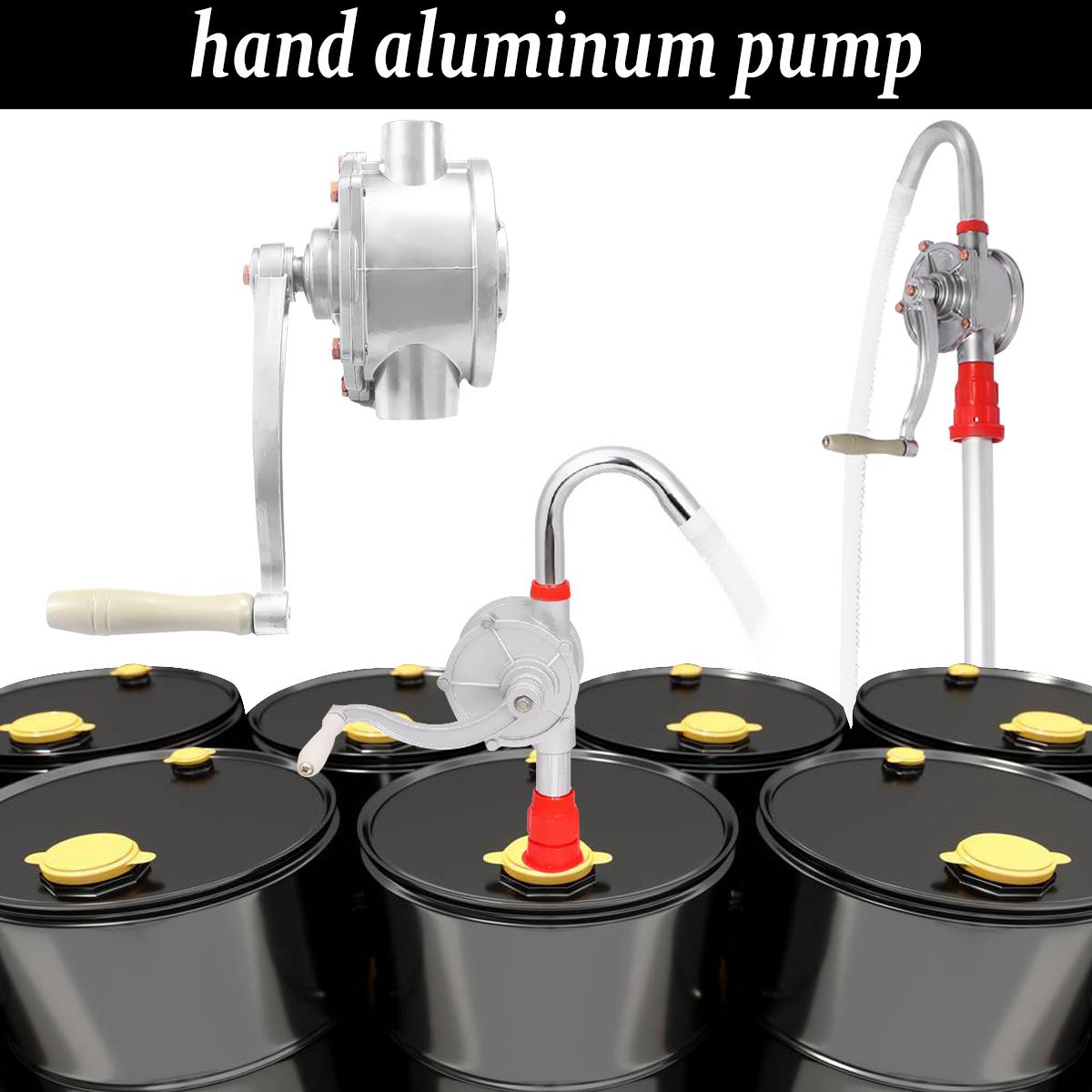 [해외]30L / M 알루미늄 핸드 헬드 디젤 펌프 연료 오일 가솔린 전송 자동 자동차 가스 물 로타리 흡입 펌프 크랭크 배럴 펌핑/30L/M Aluminum Handheld for Diesel Pump Fuel Oil Petrol Transfer Auto Car Ga