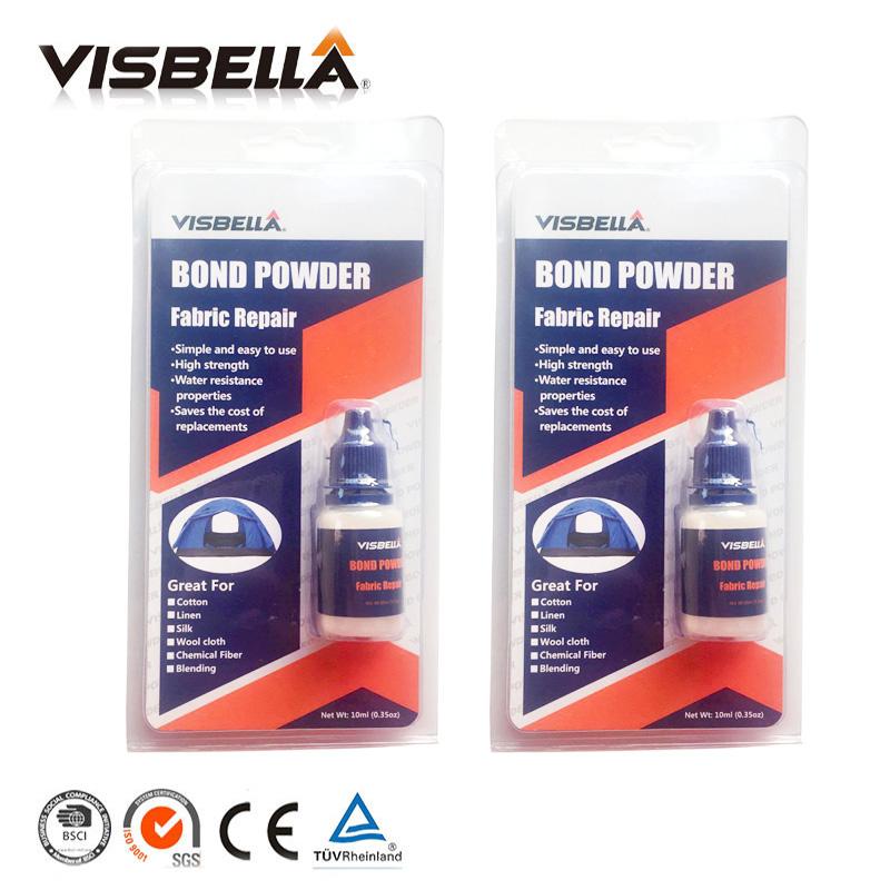 [해외]Visbella 2pcs 패브릭 바지 본드 파우더 수리 본딩 접착제 데님 수리 의류 카펫 커튼 텐트 용 방수 실러/Visbella 2pcs Fabric Pants Bond Powder repairing Bonding glue Denim Repair Waterpr