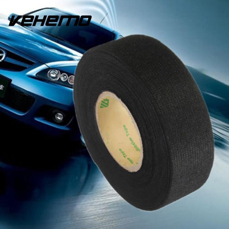[해외]VEHEMO 2017 15m 검정색 자동차 차량 배선 소음 소음 차단제 펠트 테이프 점도가 높고 내구성이 강함/VEHEMO 2017 15m  Black Car Vehicle Wiring Harness Noise Sound Insulation Adhesive Fe