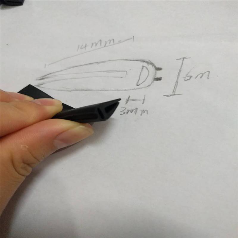 [해외]20 피트 DIY 고무 씰 U 룩 스트립 트림 블랙 자동 도어 엣지 스티커 저항성 소음 댐핑 감속기 설치 클립 인/20ft DIY Rubber Seal U Look Strip Trim Black Auto Door Edge Sticker Resistance Noi