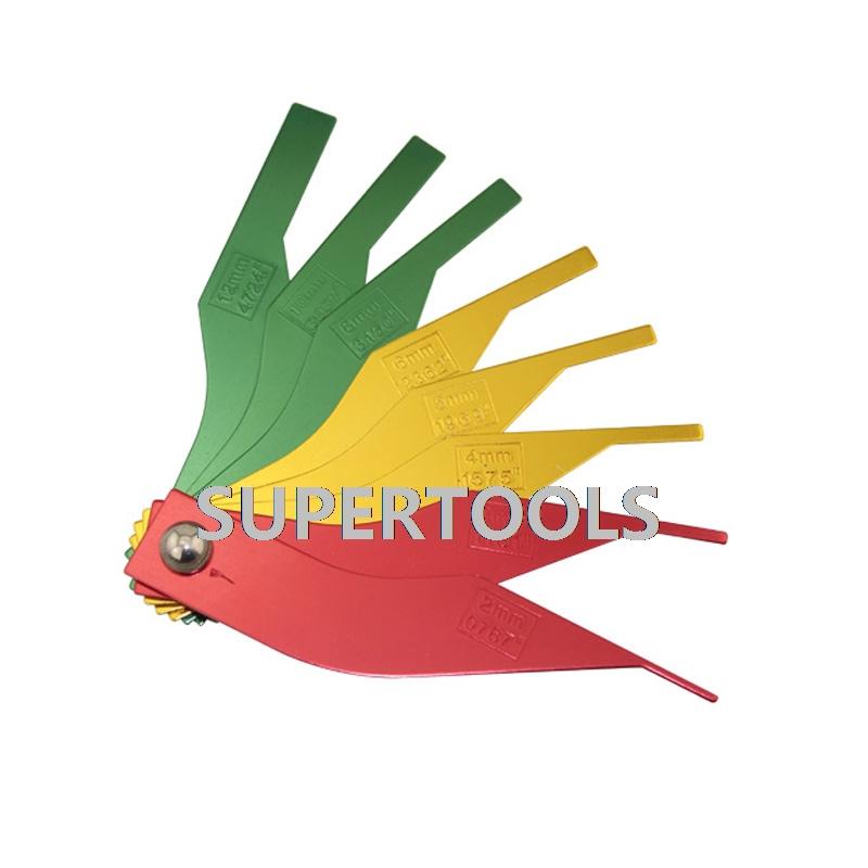 [해외]자동차 브레이크 라이닝 두께 브레이크 패드 스케일 감지기 게이지 도구 AT2257/Car Brake Lining Thickness Brake Pad Scale Detector Gauge Tool AT2257