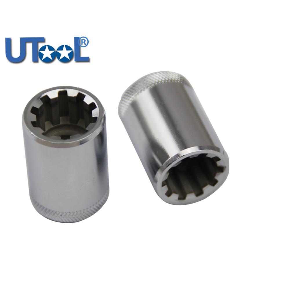[해외]브레이크 캘리퍼스 소켓 19mm 10 포인트 3/8 & 드라이브 - 37mm 롱 오디 A8 S6 10 치아 소켓/Brake  Caliper Socket 19mm 10 POINTS 3/8& DRIVE - 37mm LONG AUDI A8 S6 10 Teeth