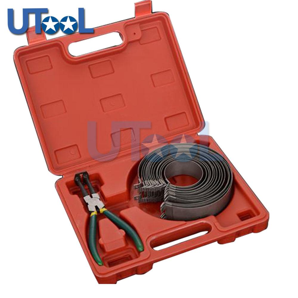 [해외]피스톤 링 압축기 실린더 설치자 래 칫 플라이어 13pcs 밴드 도구 세트 62145mm/Piston Ring Compressor Cylinder Installer Ratchet Pliers 13pcs bands Tool Set 62145mm