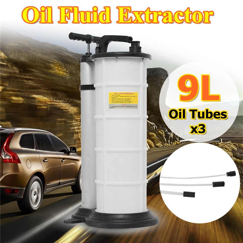 [해외]9L AutoCar 브레이크 오일 유체 추출기 배수 교체 수리 도구 수동 오일 펌프 기계 자동차 오토바이 엔진에 대 한 설정/9L AutoCar Brake Oil Fluid Extractor Drained Replacement Repair Tool Manual