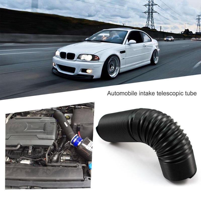 [해외]범용 63mm 2.5in 검정색 유연한 텔레스코픽 공기 청정기 흡기 호스 감속기 오토바이 자동차 에어 클리너 커넥터 자동차 스타일링/Universal 63mm 2.5in Black Flexible Telescopic Air Cleaner Intake Hose R
