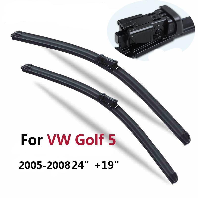 [해외] VW 폭스 바겐 골프 5 6 Mk5 Mk6 (2005-2012) 24 & 19 & 맞는 푸시 버튼 와이퍼 암용 윈드 스크린 와이퍼 블레이드/Free shipping Pair Windscreen Wiper blades for VW Volkswage