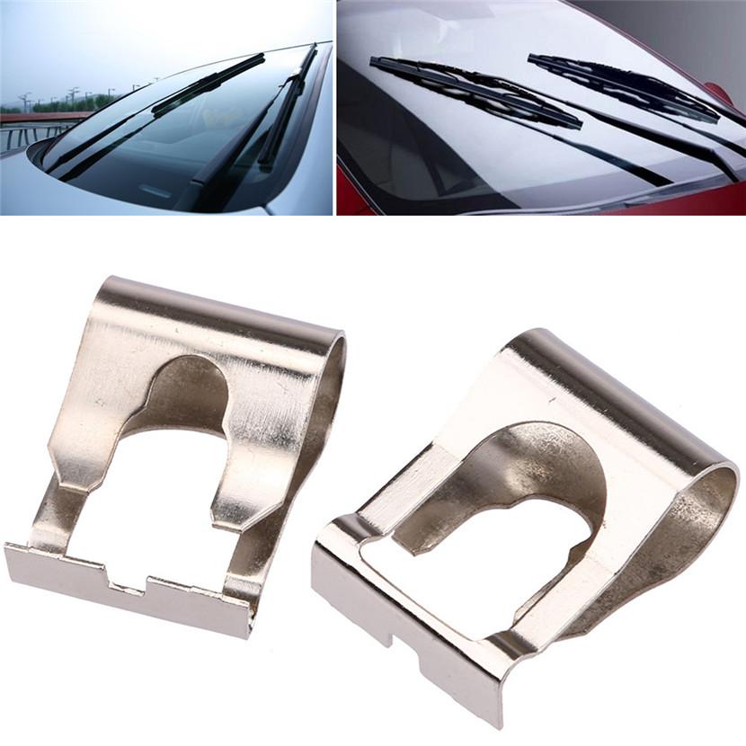 [해외]2018 자동 2 피스 피치 푼토 MK1 MK2 176 188 용 윈드 스크린 와이퍼 연결 모터 클립/2018 Auto 2 Pcs Chrome For FIAT Punto MK1 MK2 176 188 Windscreen Wiper Linkage Motor Clip
