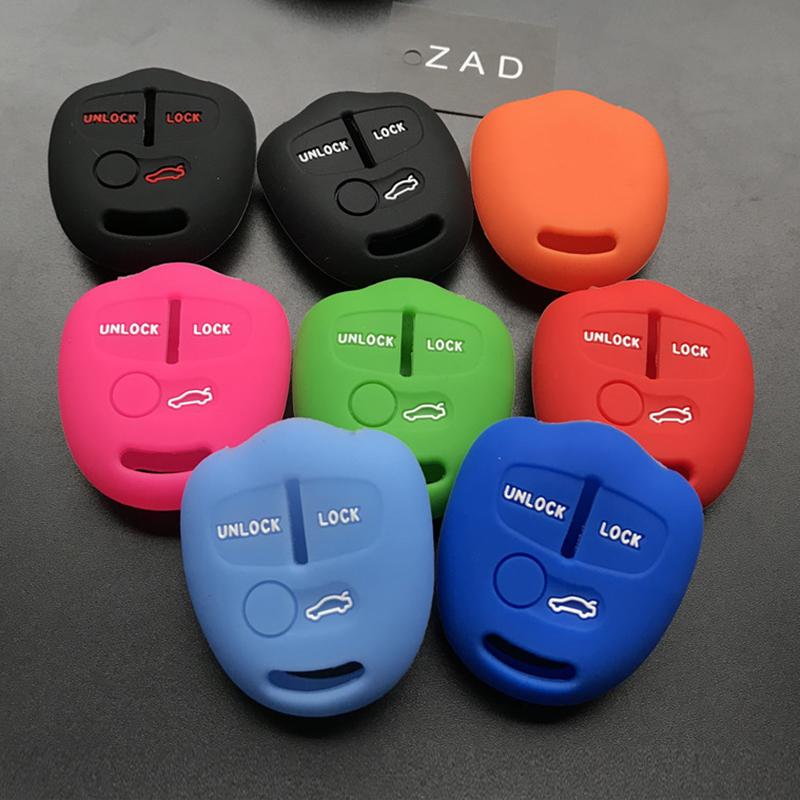 [해외]미쓰비시 ASX 용 외계인 랜서 용 ZAD 실리콘 키패드 열쇠 고리 보호 케이스 세트 Galant Pajero 리모컨 키 3 개 세트/ZAD silicone car key fob cover case set skin protector for Mitsubishi A