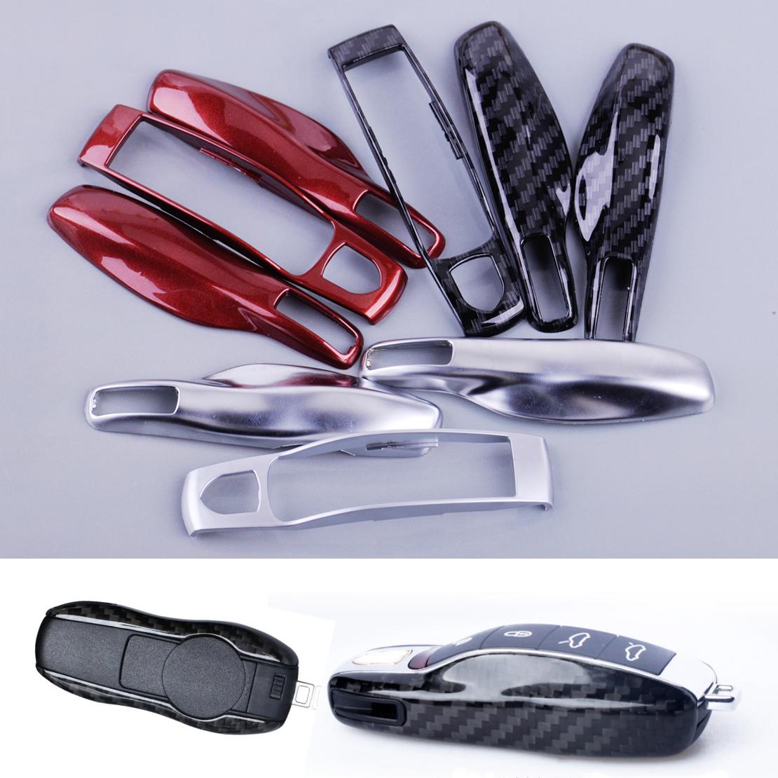 [해외]CITALL 새 광섬유 리모컨 키 케이스 키 커버 키 쉘 교체 포르쉐 Panamera Boxster 911 Macan Panamera 2015/CITALL New Fiber Remote Key Case Key Cover Key Shell Replace fit f