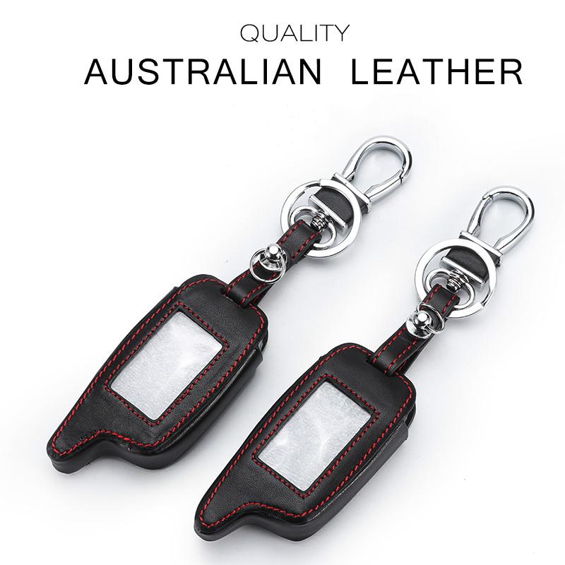 [해외]Handsewn A9  가죽 케이스 Starline A6 9 8 용 케이스 열쇠 고리 경보 용 키 체인 커버/Handsewn A9 Genuine Leather Case For Starline A6 9 8 The Case For Keyring Alarm Keych