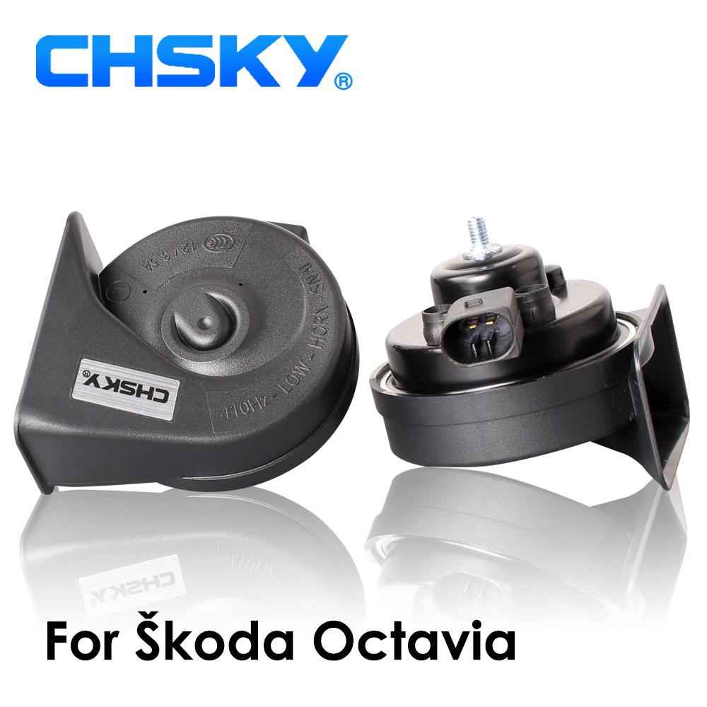 [해외]CHSKY 자동차 경적 달팽이 유형 경적 용 Skoda Octavia 2003 2004 ~ 2018 12V Loudness 110-129db Horn Long Life Time High Low Klaxon/CHSKY Car Horn Snail type Horn