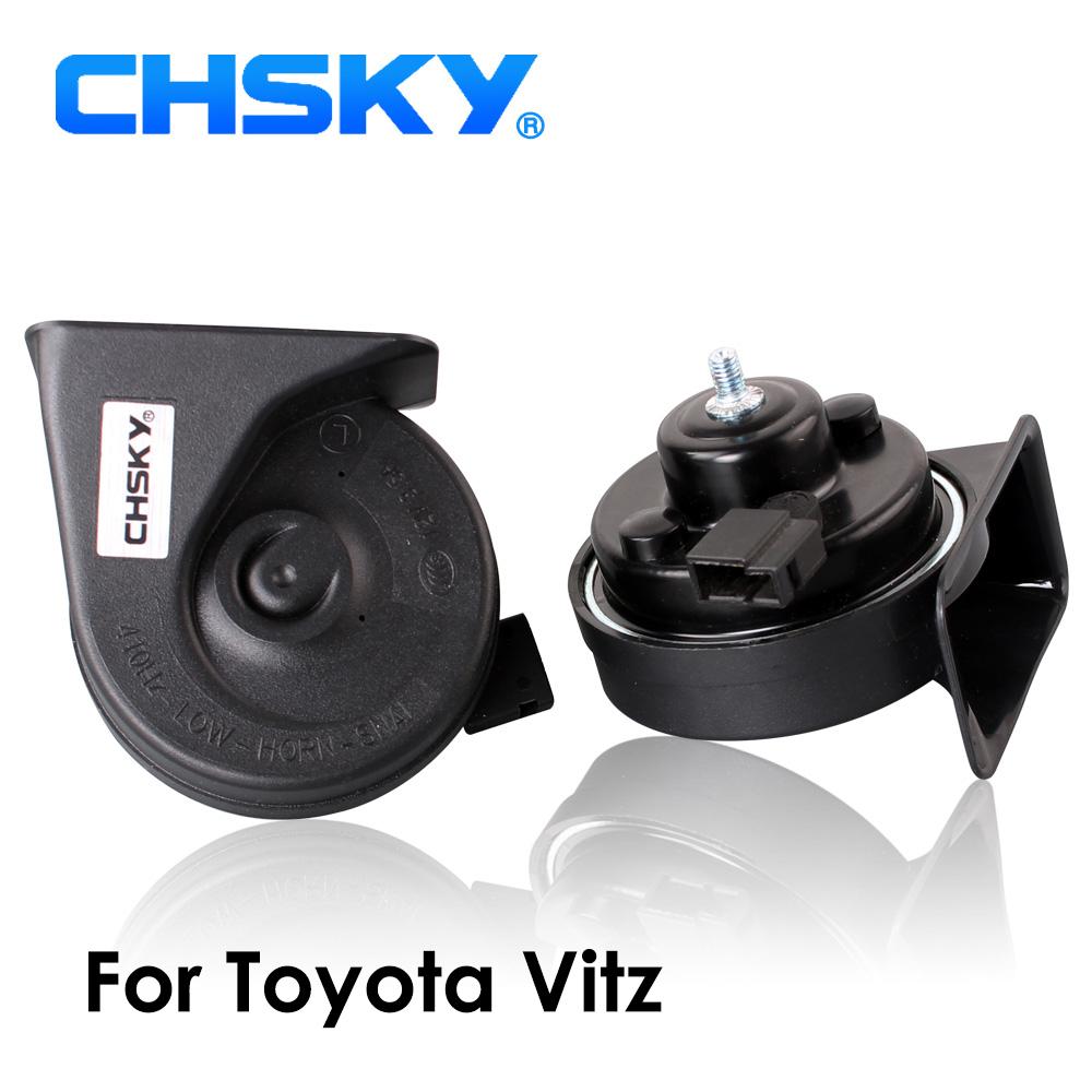 [해외]CHSKY 자동차 경적 달팽이 유형 경적 도요타 비츠에 대한 2002 년 12V 소리 크기 110-129db 자동 경적 장수명 높음 낮음 Klaxon/CHSKY Car Horn Snail type Horn For Toyota Vitz 2002 to NOW 12V