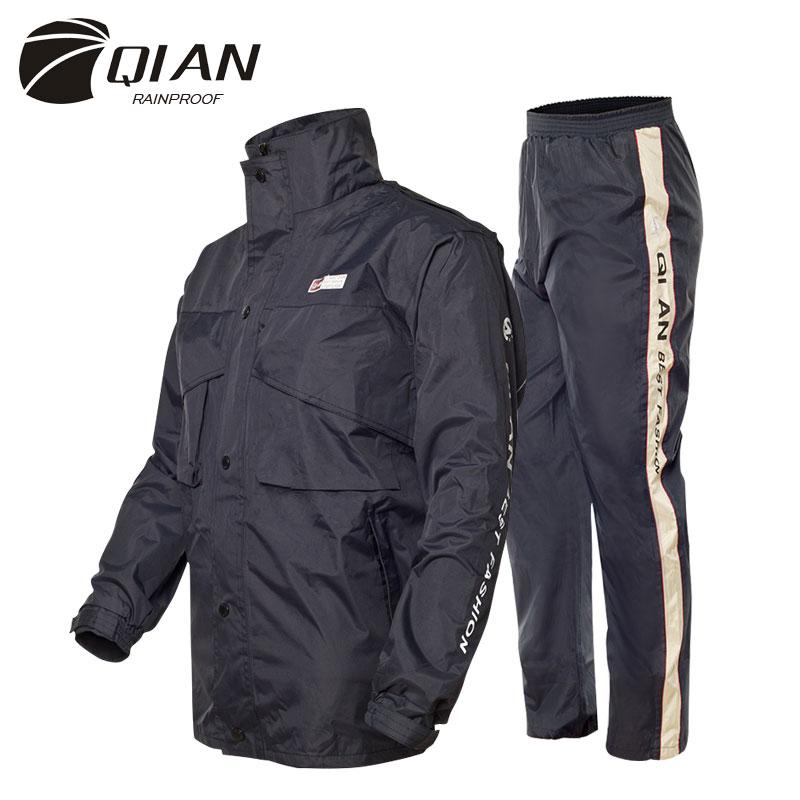 [해외]QIAN 불 침투성 비옷 여성 / 남성 정장 비옷 야외 ??후드 여성용 비옷 오토바이 낚시 캠핑 비옷 남성 의류/QIAN Impermeable Raincoat Women/Men Suit Rain Coat Outdoor Hood Women&s Raincoat Mo