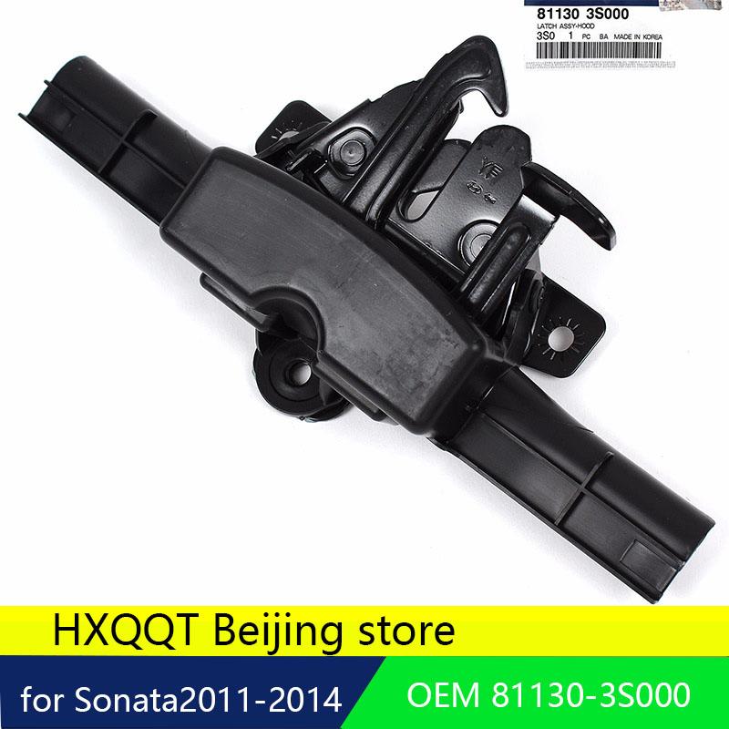 [해외]순 현대 자동차 용 잠금 후드 래치 피팅 2011 2012 2013 2014 OEM 81130-3S000 엔진 커버 잠금 장치 신형 1PC/GENUINE Lock Hood Latch Fits for Hyundai Sonata  2011 2012 2013 2014