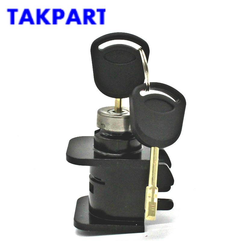 [해외]TAKPART 보닛 후드 잠금 래치 실린더 2 키 포드 이동 MK6 2000-2006 4124287 자동차 부품/TAKPART Bonnet Hood Lock Latch Cylinder2 Keys for Ford Transit MK6 2000-2006 412428